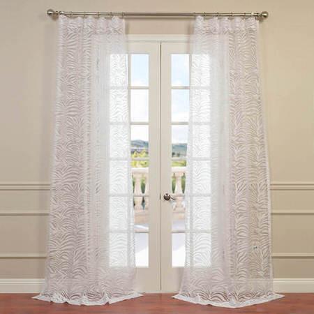 Zara White Designer Sheer Curtain