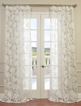 Venus White Designer Sheer Curtain
