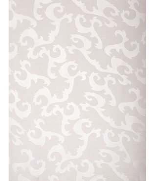 Alesandra White Patterned Sheer Swatch