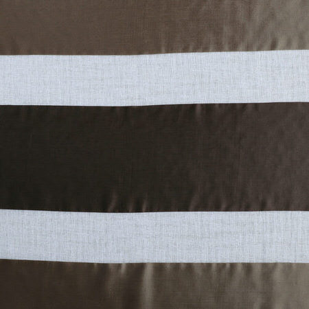 Antique Bronze Organza Horizontal Stripe Sheer Swatch