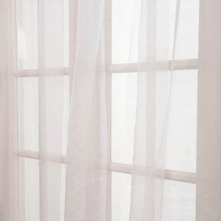 White Solid Faux Organza Sheer Swatch
