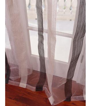 Signature Havannah Ash Striped Linen & Voile Weaved Sheer Swatch