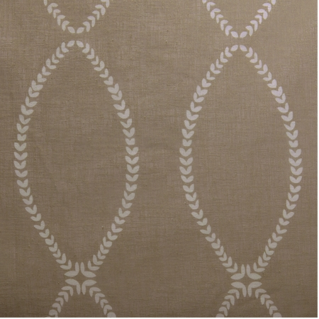 Grecian Taupe Printed Sheer Swatch