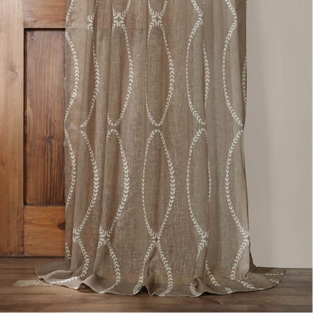 Grecian Taupe Printed Sheer Curtain