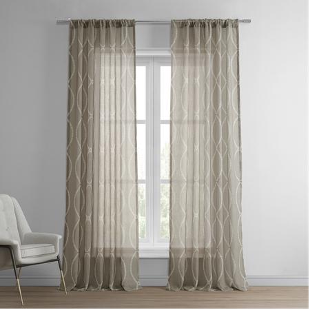 Grecian Taupe Printed Sheer Curtain