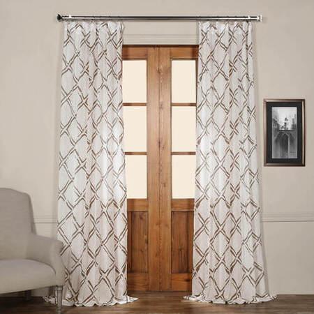 Normandy Grey Printed Sheer Curtain