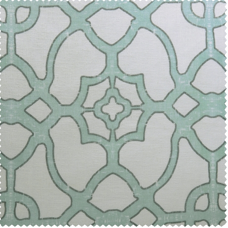 SeaGlass Blue Printed Sheer Swatch