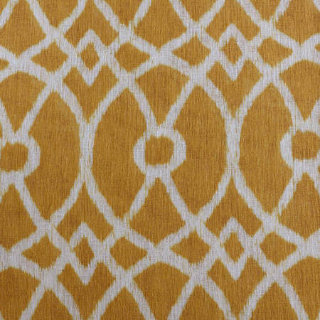 Tava Yellow Printed Sheer Swatch