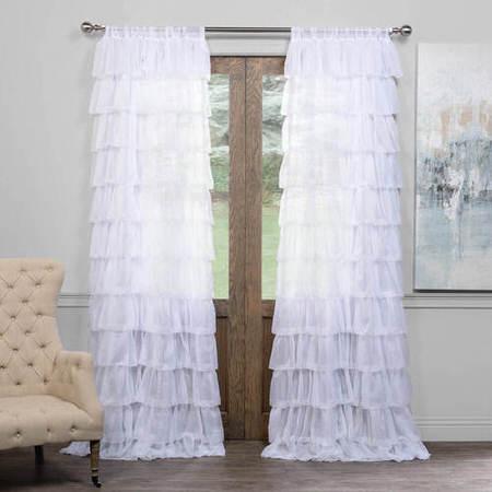 Amelia Layered Ruffle Sheer Curtain