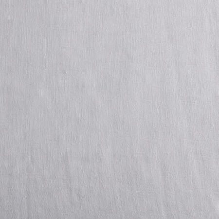 Aspen White Solid Faux Linen Sheer Swatch