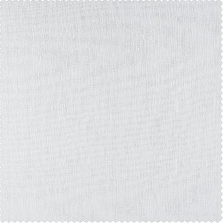 Aspen White Solid Faux Linen Sheer Swatch