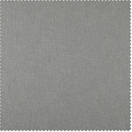 Paris Grey Solid Faux Linen Sheer Swatch