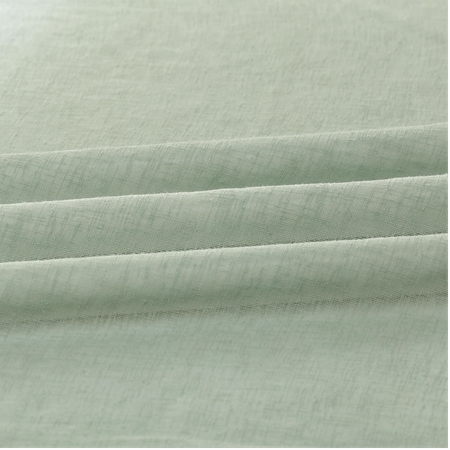 Samvan Sun Solid Faux Linen Sheer Swatch