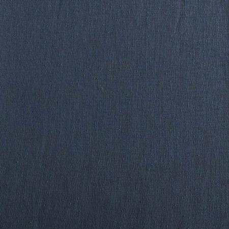Tahoe Blue Solid Faux Linen Sheer Swatch
