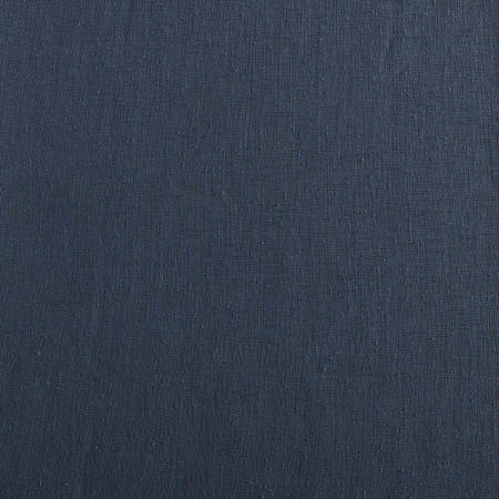 Tahoe Blue Solid Faux Linen Sheer Swatch
