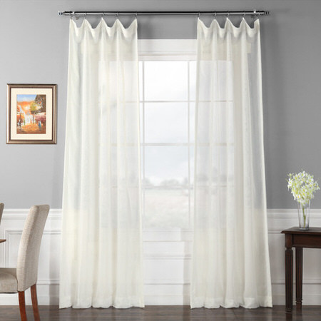 Signature Double Layered Off White Sheer Curtain