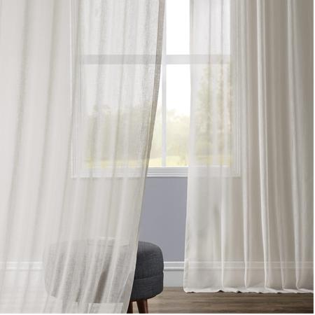 Gardenia Faux Linen Sheer Curtain