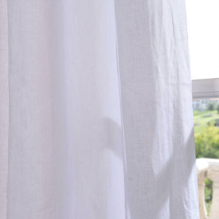 Signature  Purity  White French Linen Sheer Swatch
