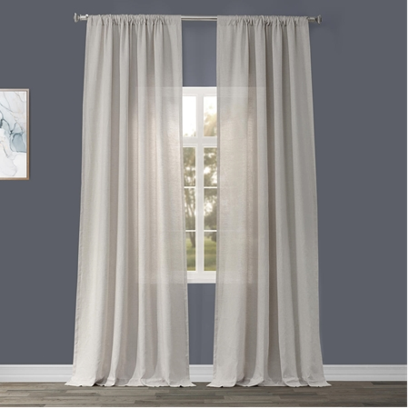 Signature Birch French Linen Sheer Curtain