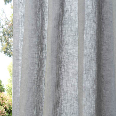 Grey Linen Sheer Swatch