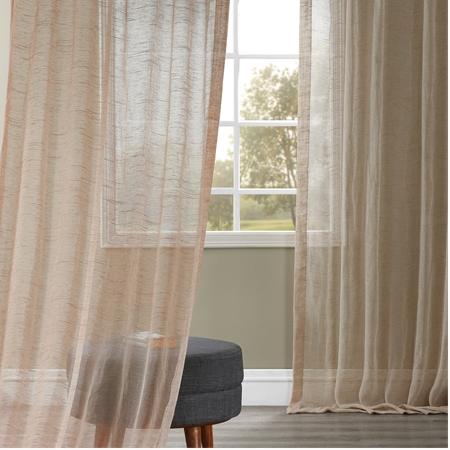 Linen sheer curtains - linen sheers | Half Price Drapes