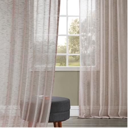 Open Weave Cinder Grey Linen Sheer