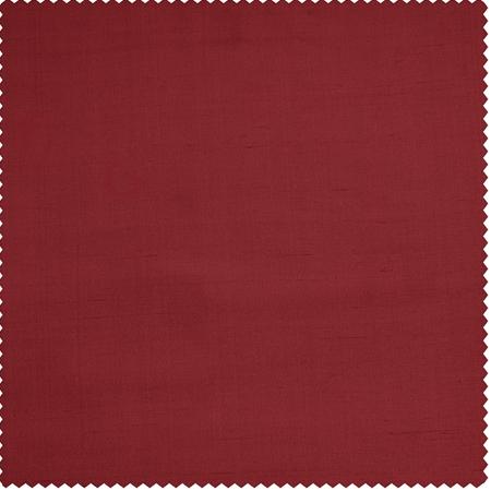 Bold Red Thai Silk Swatch