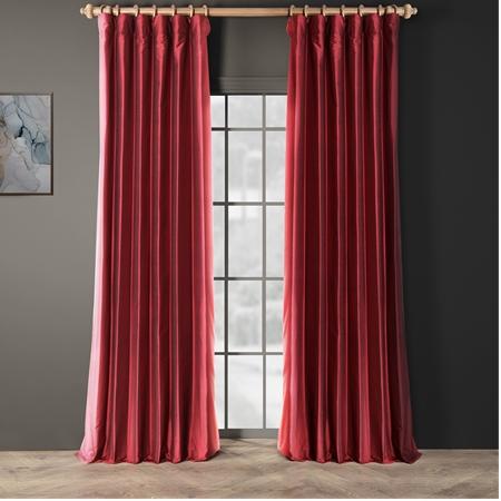 Bold Red Thai Silk Curtain