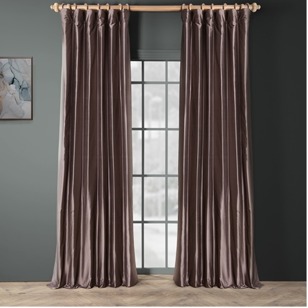 Spiced Plum Thai Silk Curtain