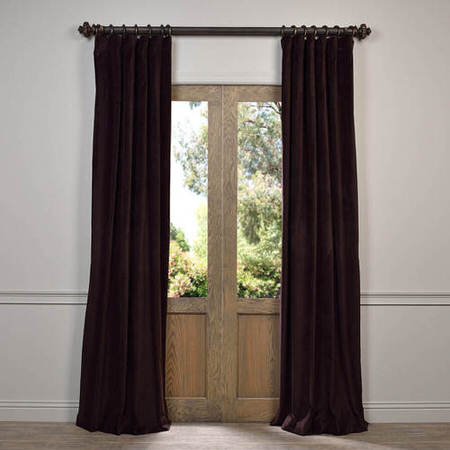 Espresso Caponata Cotton Velvet Curtain