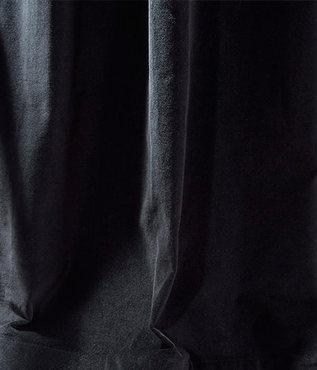 Ebony Black Vintage Cotton Velvet Swatch