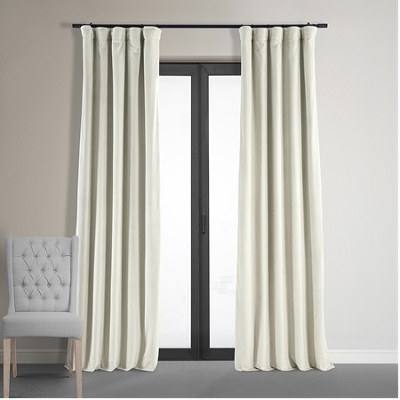 White blackout curtains for better control