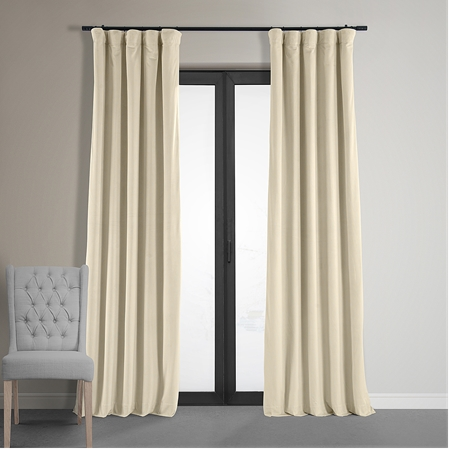 Signature Ivory Blackout Velvet Curtain