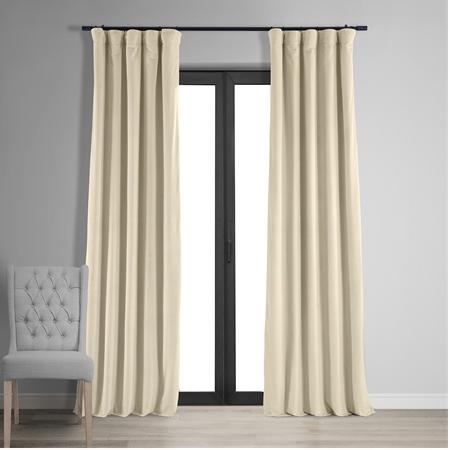 Signature Ivory Blackout Velvet Curtain