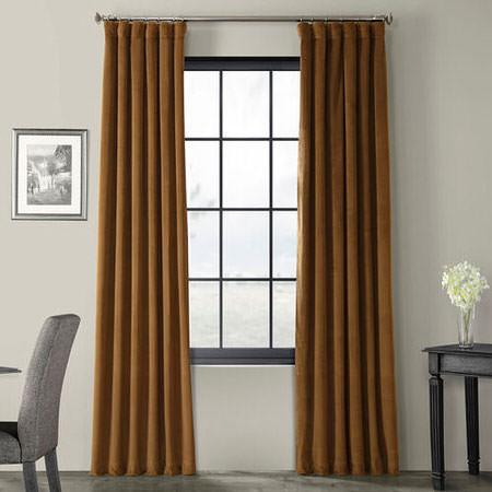 Signature Sable Blackout Velvet Curtain