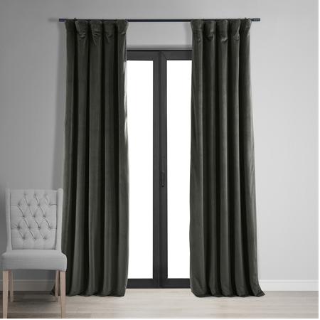 Signature Gunmetal Grey Blackout Velvet Curtain