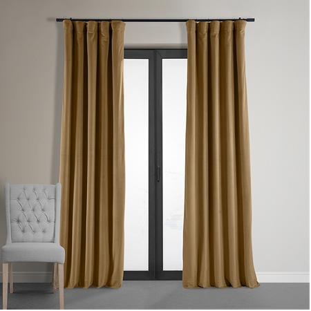 Signature Amber Gold Blackout Velvet Curtain