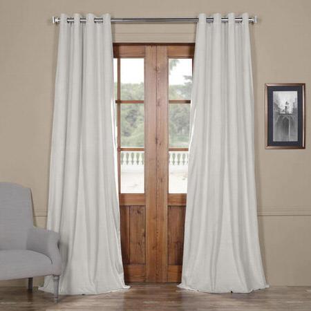 Signature Reflection Grey Grommet Blackout Velvet Curtain