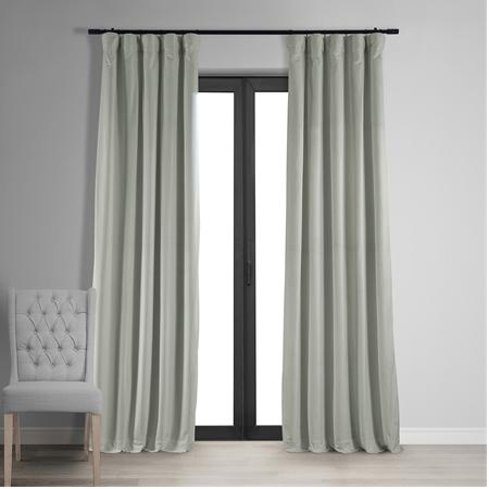 Signature Reflection Grey Blackout Velvet Curtain