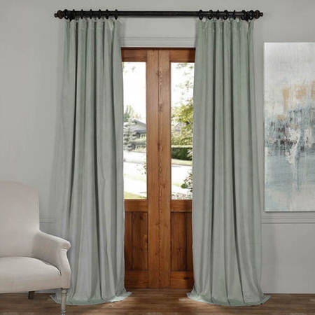 Signature Tidewater Green Blackout Velvet Curtain