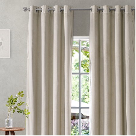 Signature Cool Beige Grommet Blackout Velvet Curtain