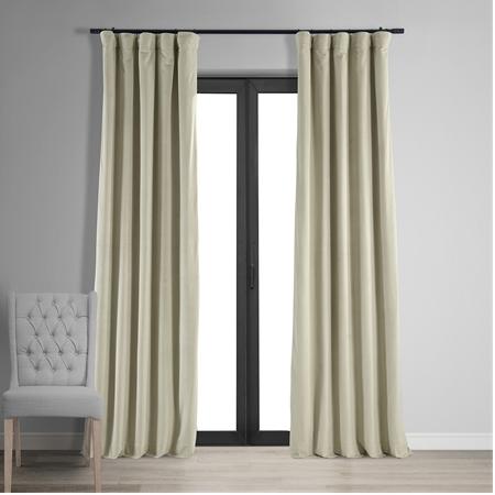Signature Cool Beige Blackout Velvet Curtain