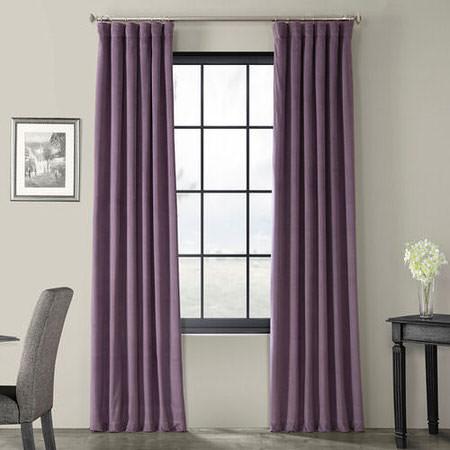 Signature Fresh Violet Blackout Velvet Curtain