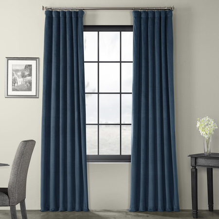 Signature Twilight Blue Blackout Velvet Curtain