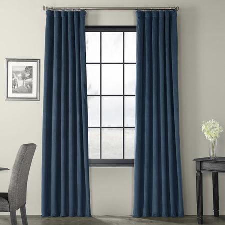 Signature Twilight Blue Blackout Velvet Curtain
