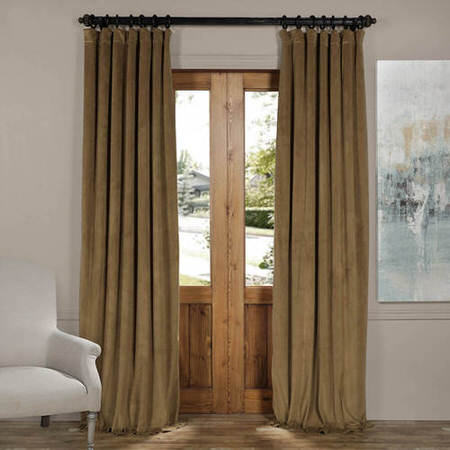 Signature New Fawn Blackout Velvet Curtain