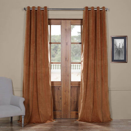 Signature Rusty Gate Grommet Blackout Velvet Curtain