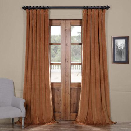 Signature Rusty Gate Blackout Velvet Curtain