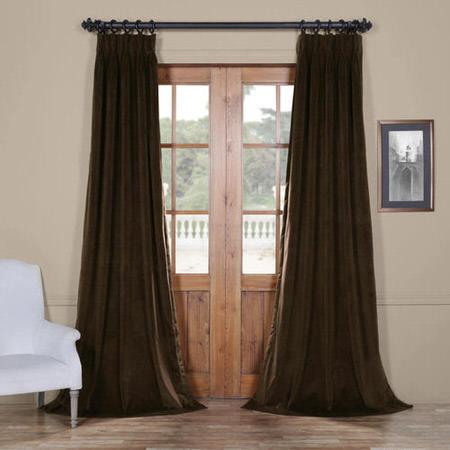Signature Java Pleated Blackout Velvet Curtain