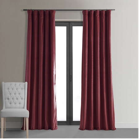 Signature Burgundy Blackout Velvet Curtain
